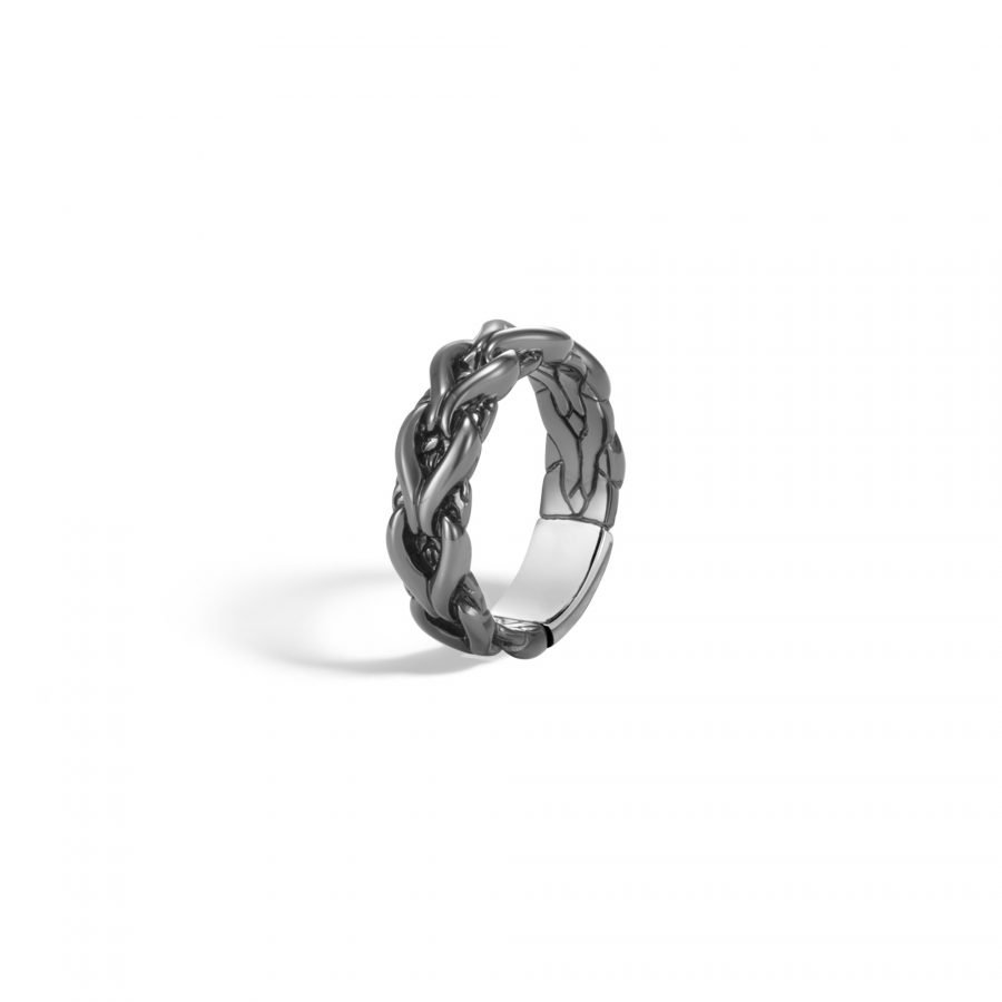 Asli Classic Chain Link 6MM Band Ring in Silver - Size 8 2