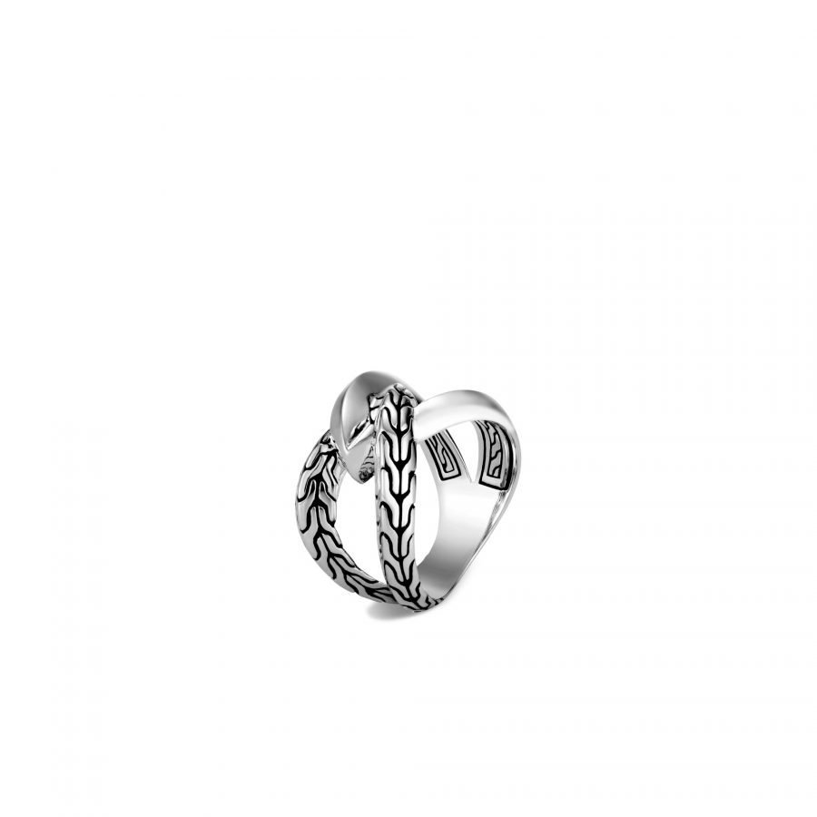 Classic Chain Knife Edge Ring in Silver - Size 8 2