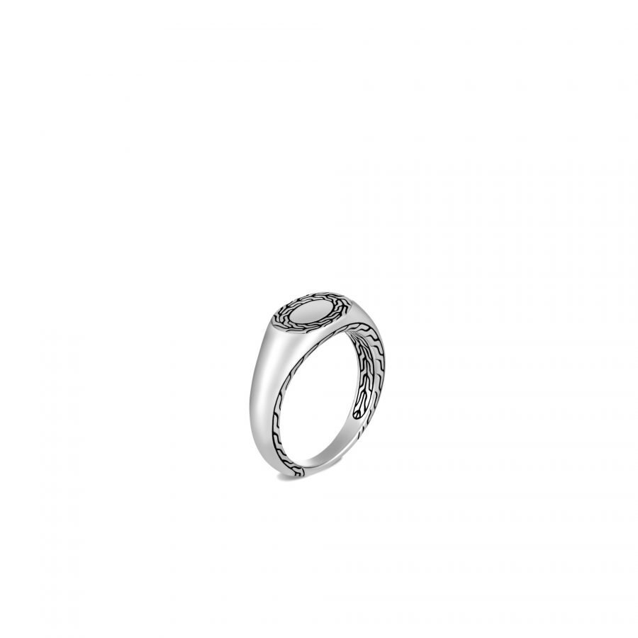 Classic Chain Signet Ring in Silver - Size 5 2