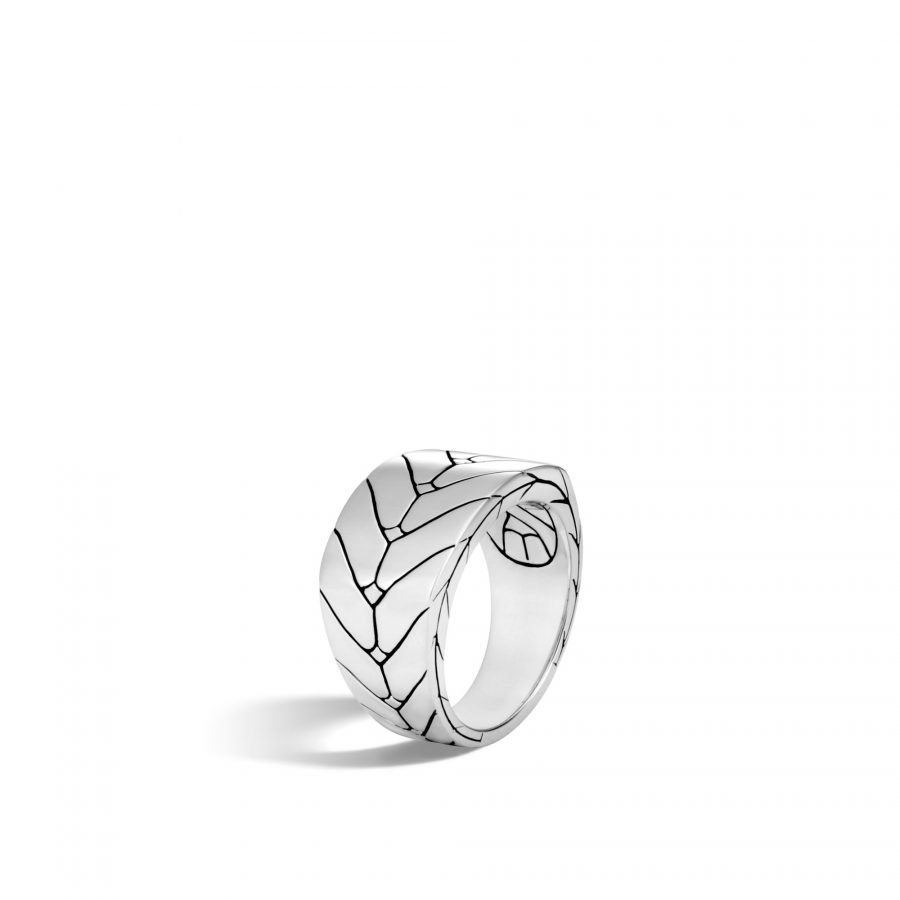 Modern Chain Ring in Silver - Size 10 2