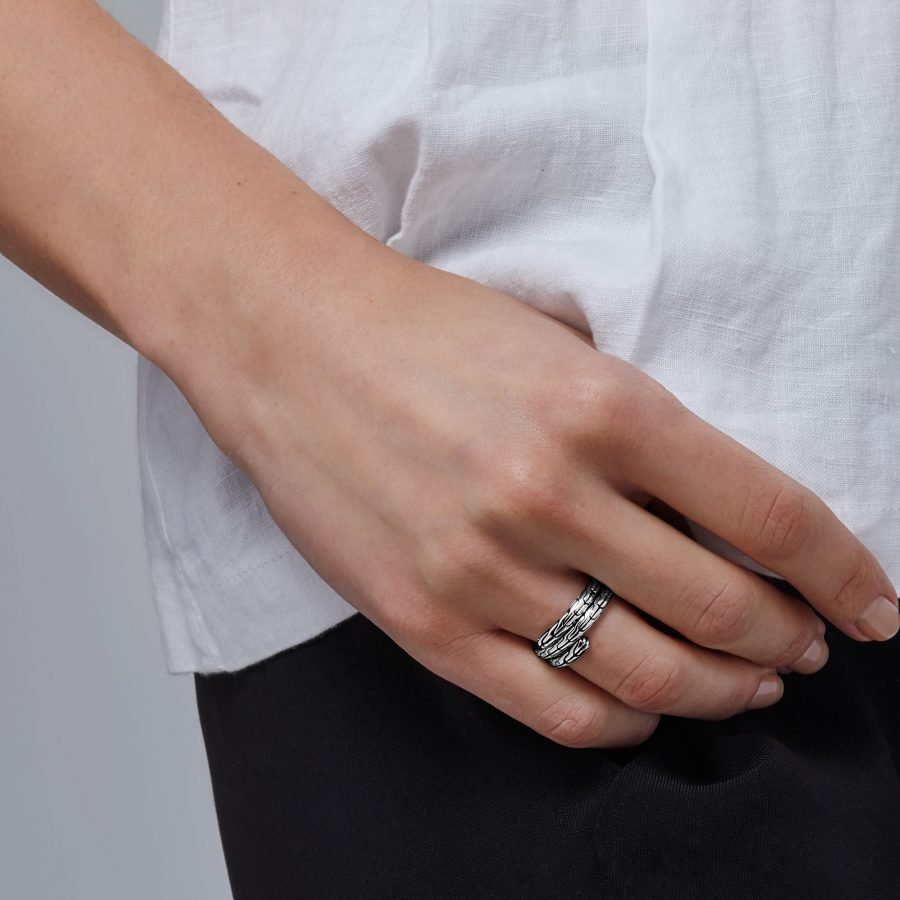 Classic Chain Double Coil Ring - Size 7 2