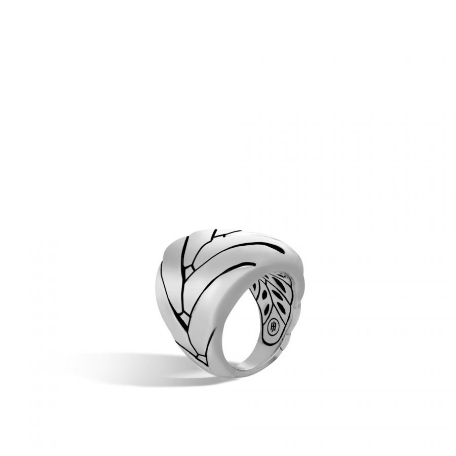 Modern Chain 24MM Ring in Silver - Size 7 2