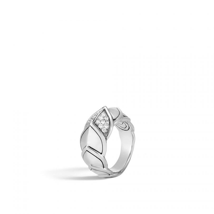 Legends Naga 11.5MM Ring in Silver with White Diamonds 2