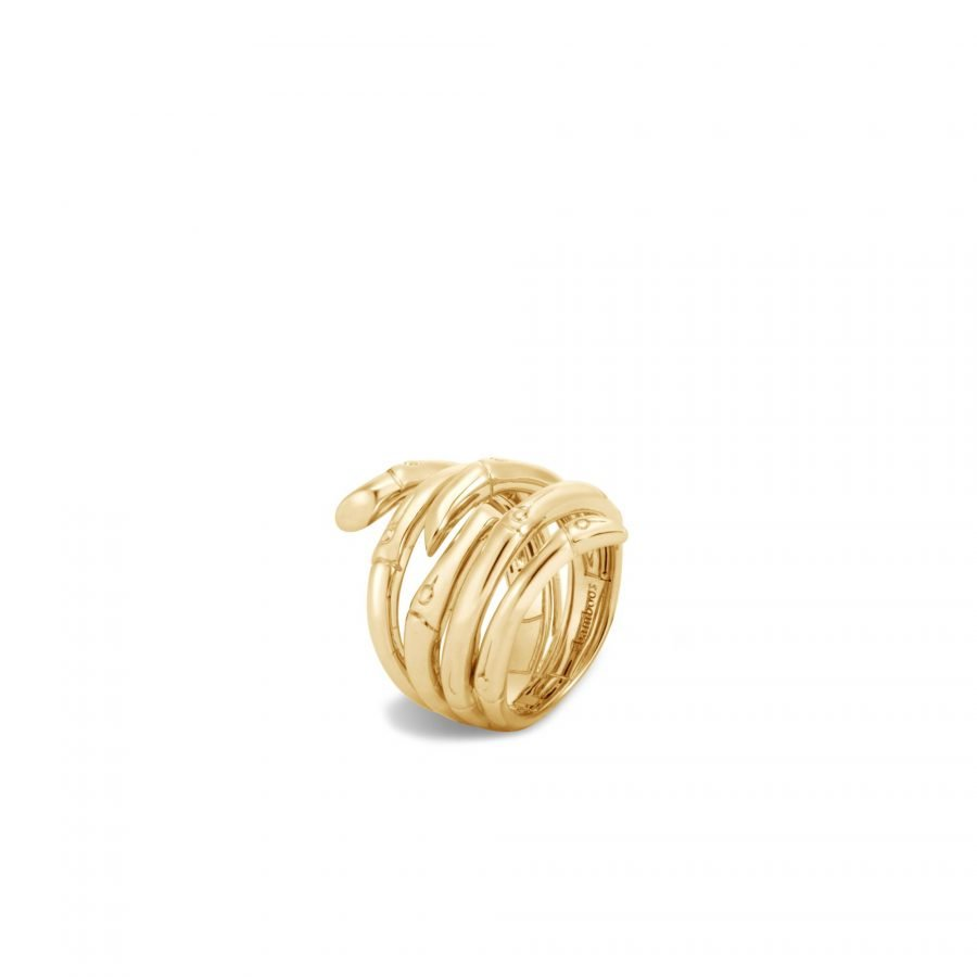 Bamboo Ring in 18K Gold - Size 7 2