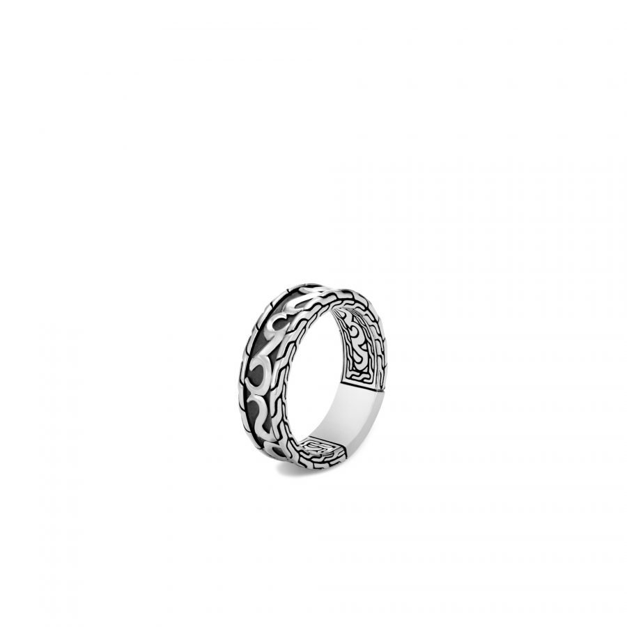 Classic Chain Keris Dagger 7MM Band Ring in Silver - Size 10 2