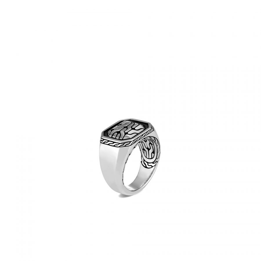 Classic Chain Signet Ring in Silver - Size 10 2