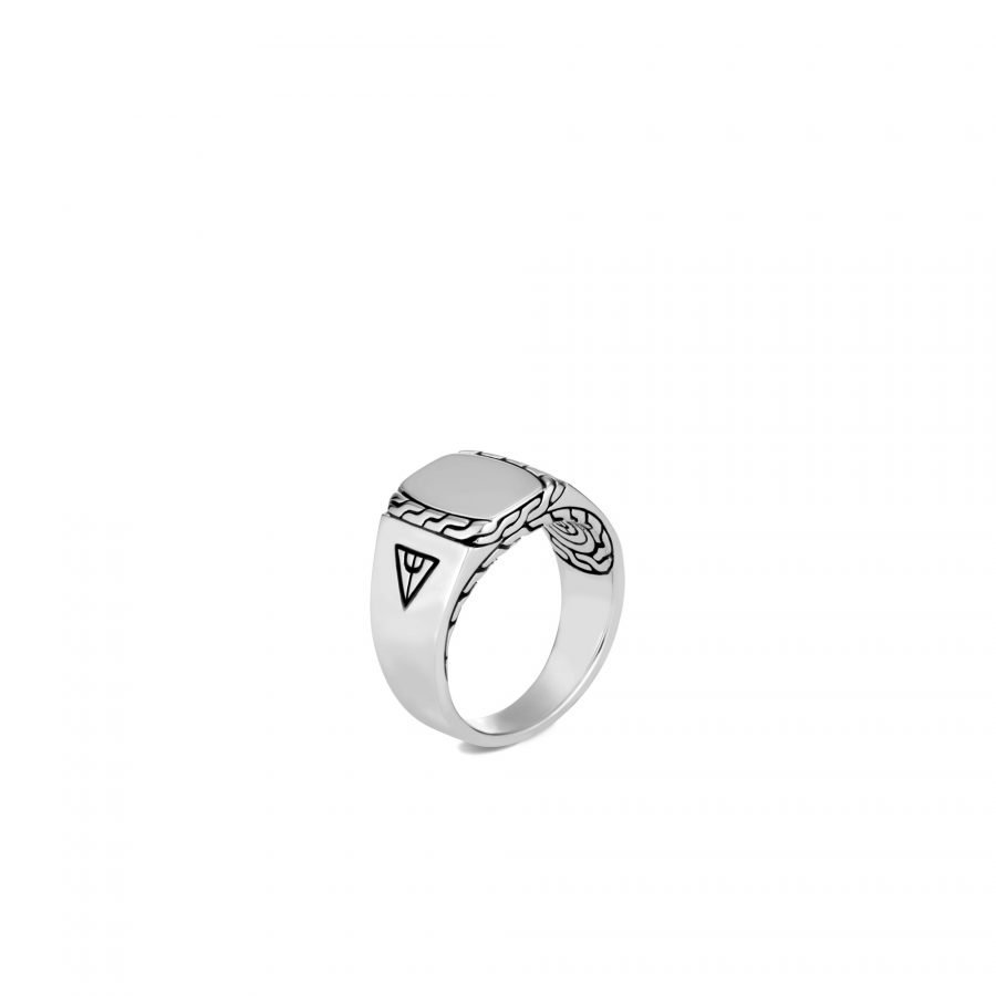 Classic Chain Signet Ring in Silver - Size 11 2