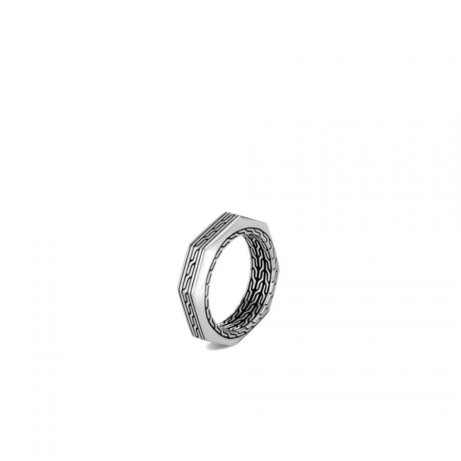 Classic Chain 6MM Band Ring in Silver - Size 10 2
