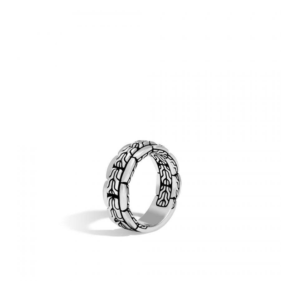 Classic Chain 8MM Band Ring in Silver - Size 10 2