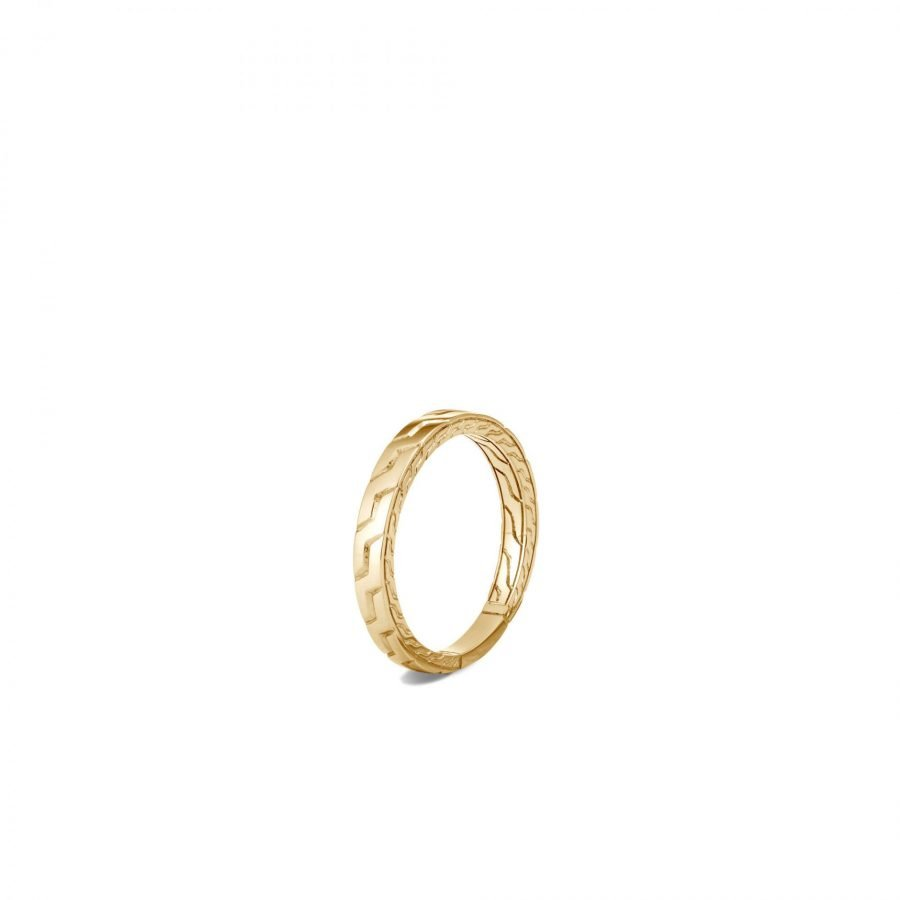 Classic Chain 3.5MM Band Ring in 18K Gold - Size 10 2