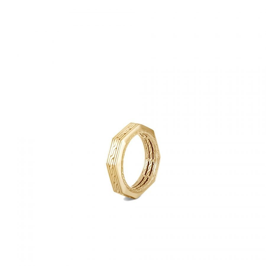 Classic Chain 6MM Band Ring in 18K Gold - Size 11 2