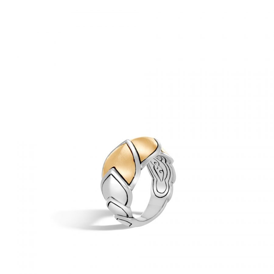 Legends Naga 15MM Ring in Silver and Brushed 18K Gold - Size 7 2