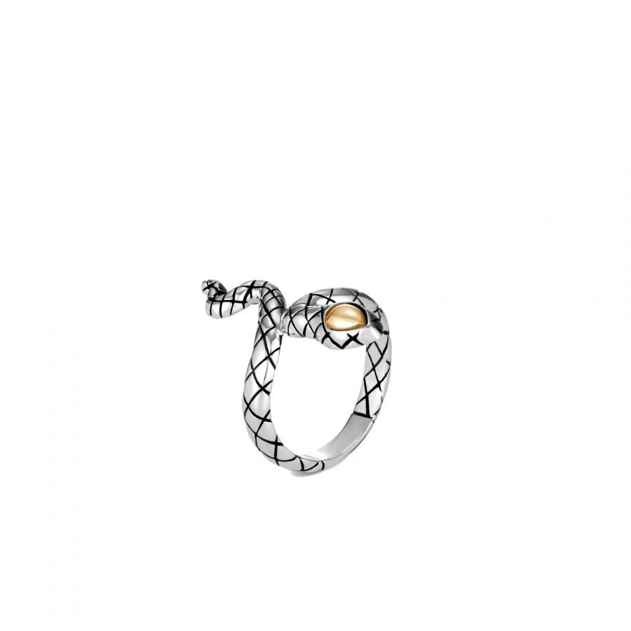 Legends Cobra Ring in 18K Gold and Silver 2