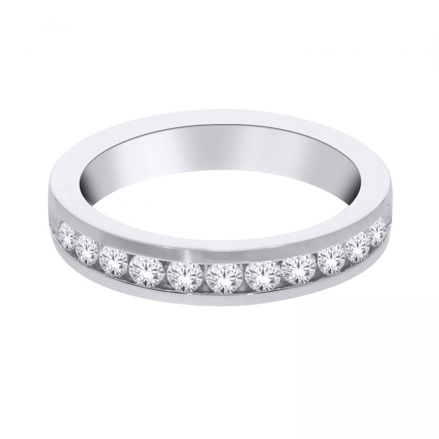 Ring - Band Channel Set 0.50 ctw diamonds in 14K White Gold 2