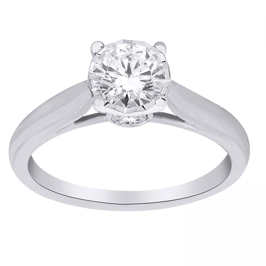 Ring - Solitaire 0.50 ctw diamonds in 14K White Gold 2