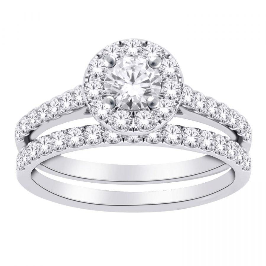 Ring - Bridal Set 1.00 ctw diamonds in 14k white gold 2