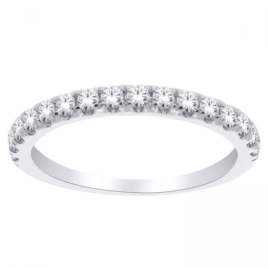 Ring - Band Eternity Half 0.50 ctw diamonds in 14k white gold 2