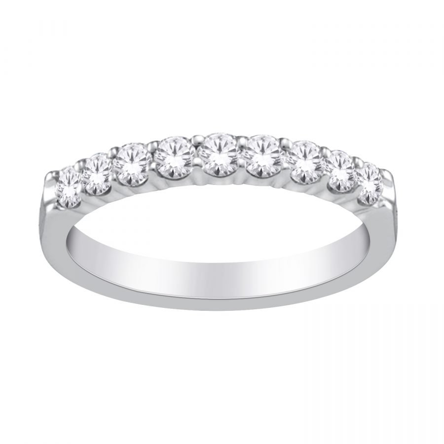 Ring - Band 9 Stone 0.33 ctw diamonds in 14k white gold 2