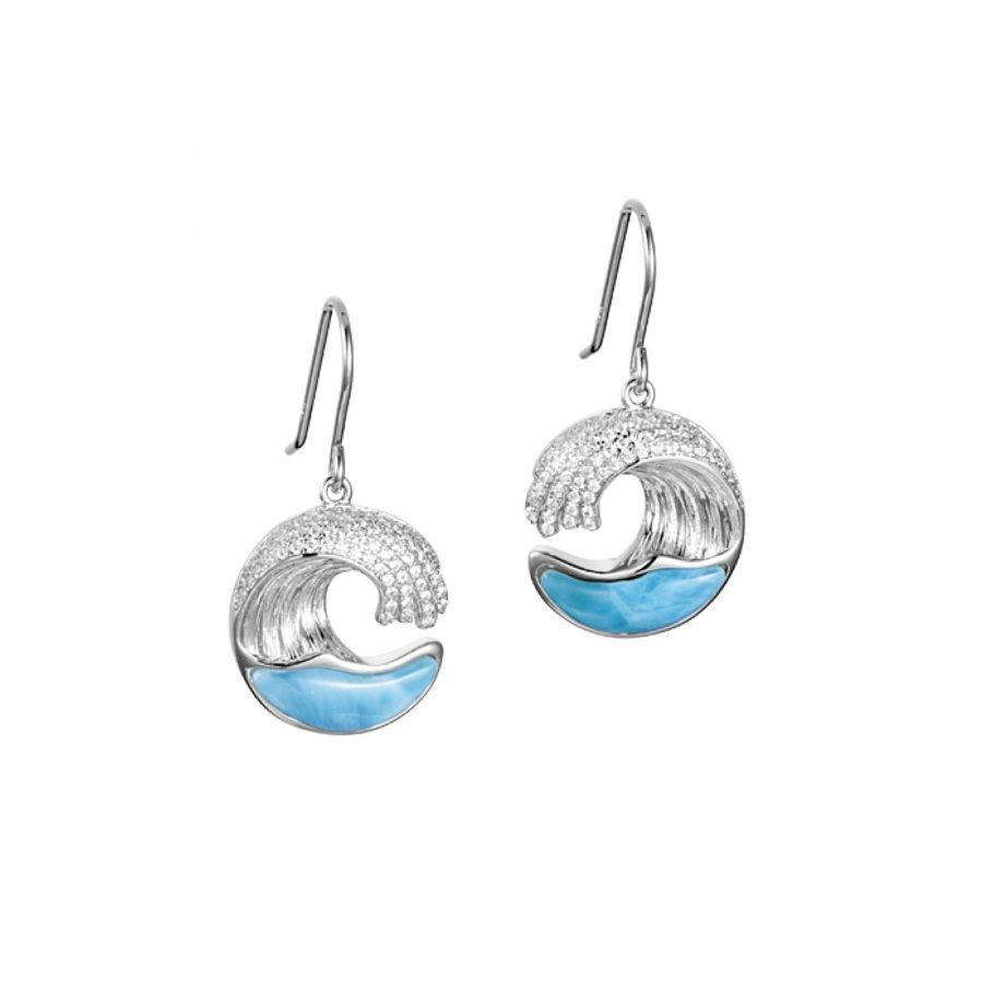 Earrings - Larimar Wave 2