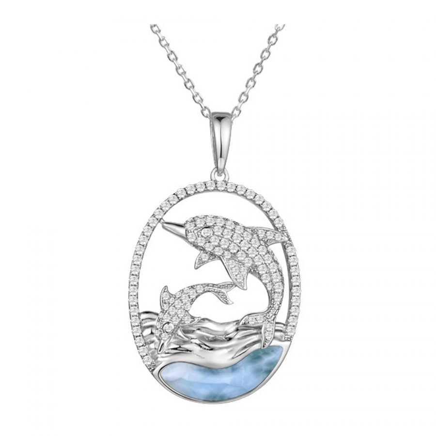 Pendant - Larimar Dolphin 2