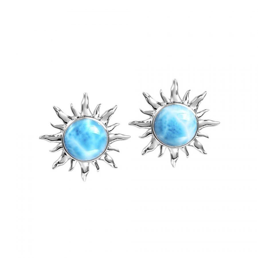 Earrings - Larimar Sun 2