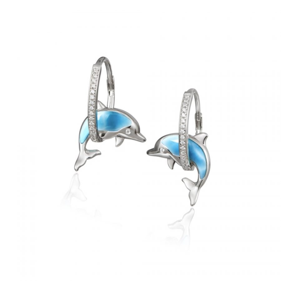 Earrings - Larimar Dolphin 2