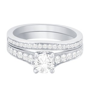 Ring - Bridal Set 0.95 ctw diamonds in 14k white gold 2