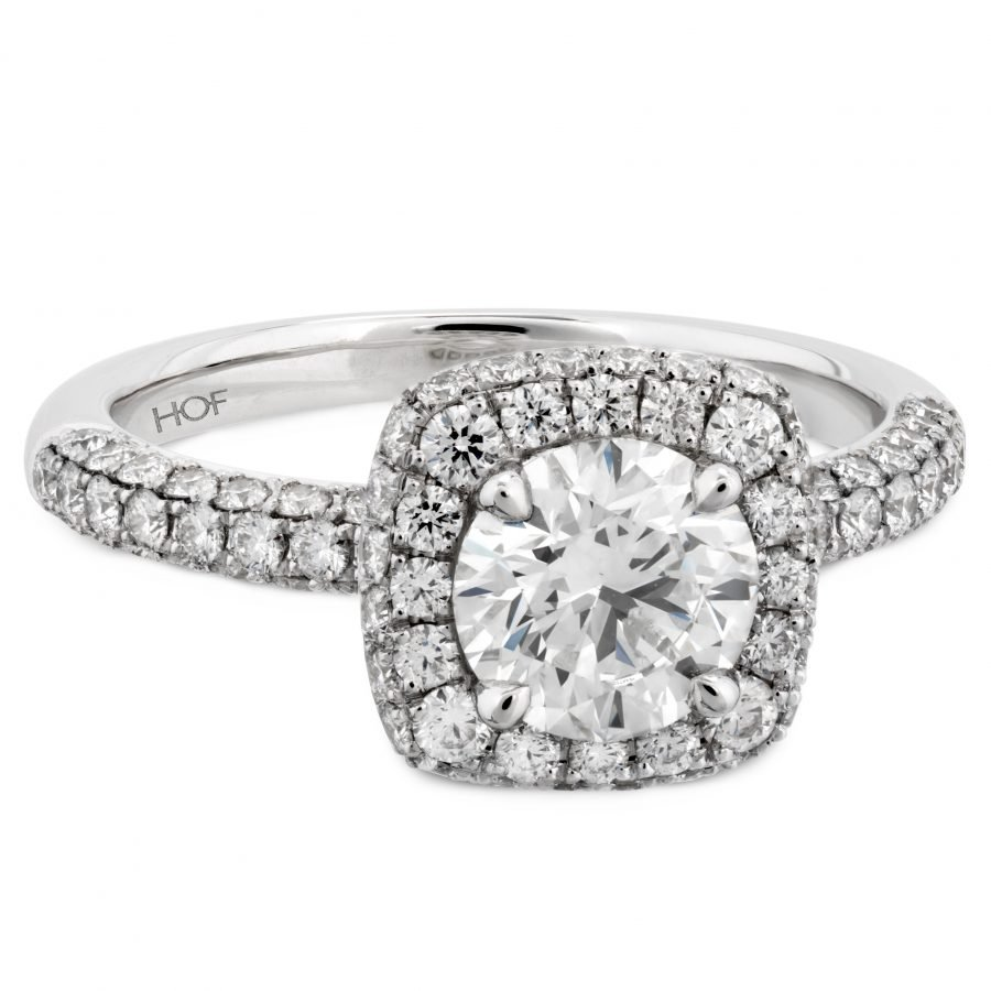 Ring - Euphoria Pave 0.99 ctw. Hearts On Fire Diamonds in 18K White Gold 2