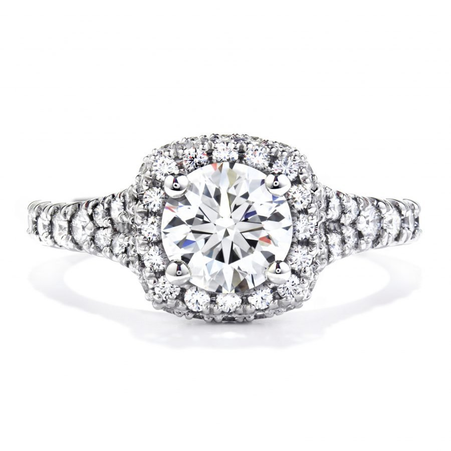 Ring - Acclaim Engagement Ring 1.15 ctw. Hearts On Fire Diamonds in 18K White Gold 2