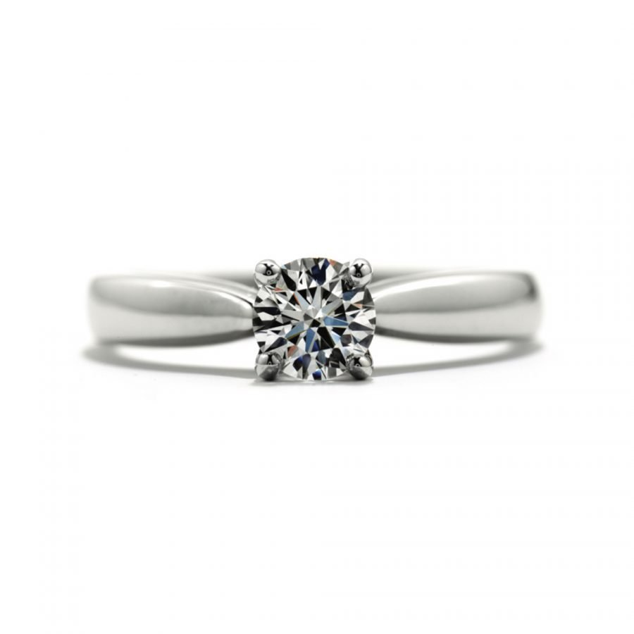 Ring - Solitaire Serenity Select 0.31 ctw. Hearts On Fire Diamonds in 18K White Gold 2