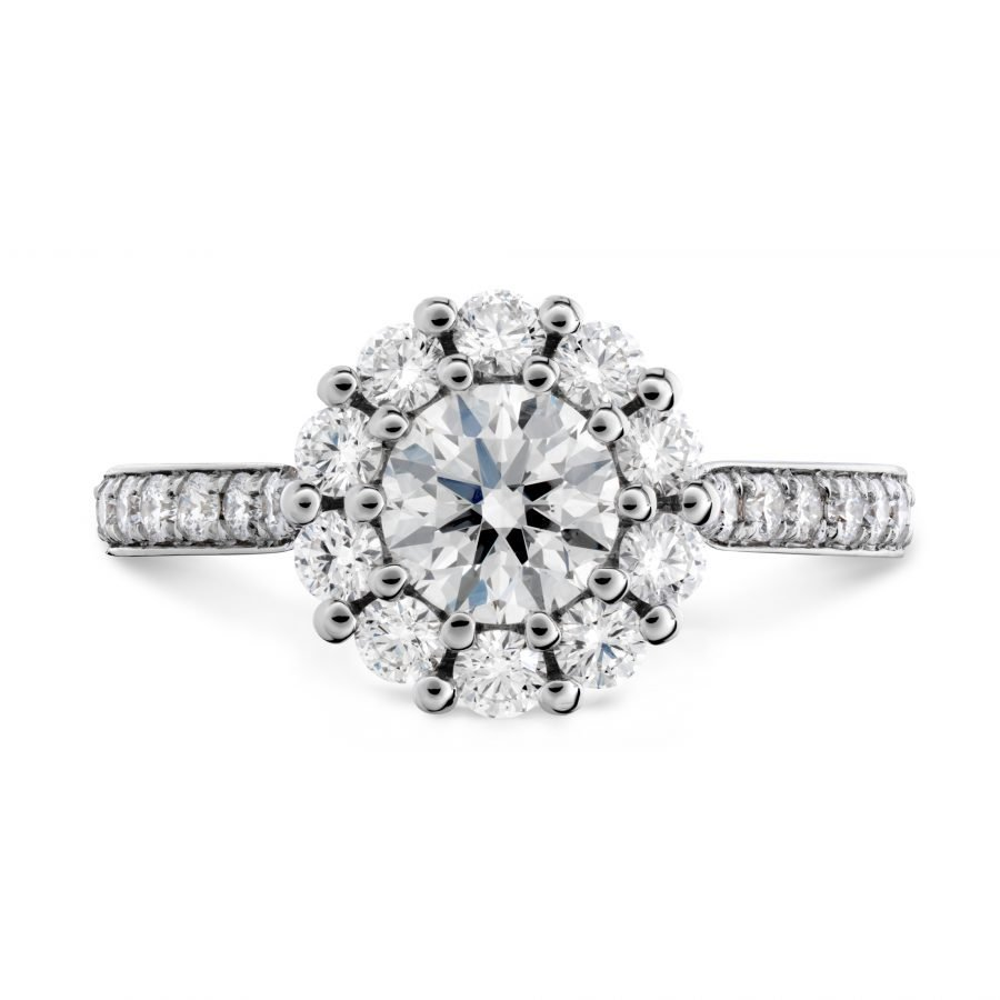 Ring - Beloved Open Gallery Engagement Ring 1.40 ctw. Hearts On Fire Diamonds in 18K White Gold 2
