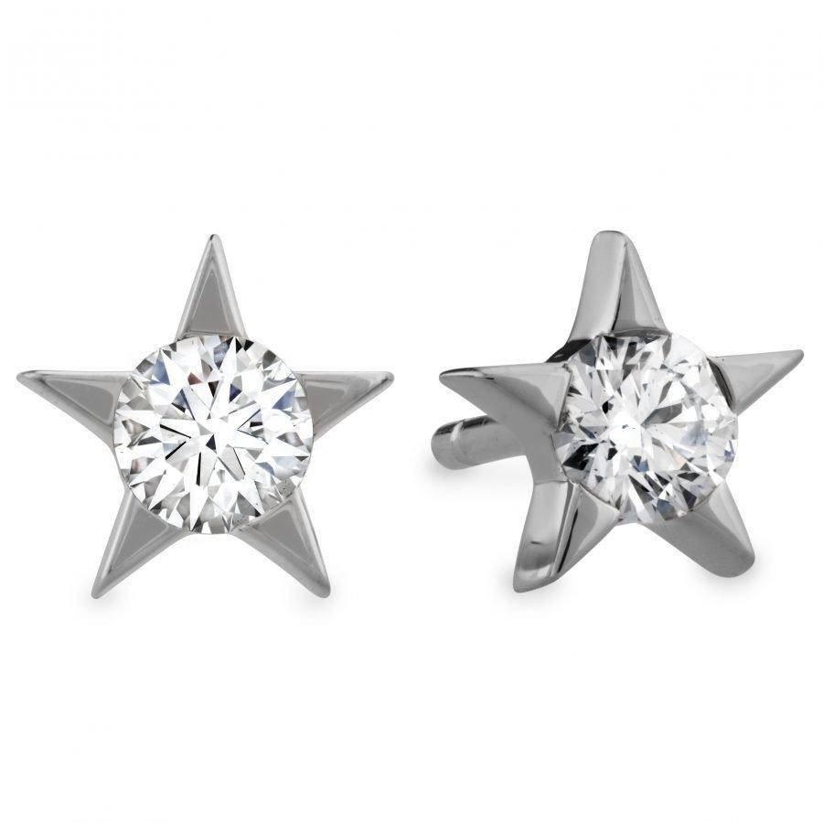 Earrings - Illa Diamond Studs 0.32 ctw. Hearts On Fire Diamonds in 18K White Gold 2