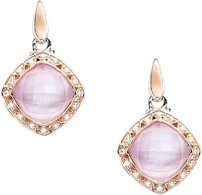 Earrings - Tacori Rose Amethyst Over Pink Mother of Pearl & Diamond 2