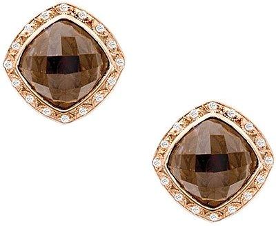Earrings Studs - Tacori Truffle Smokey Quartz and Diamond 2