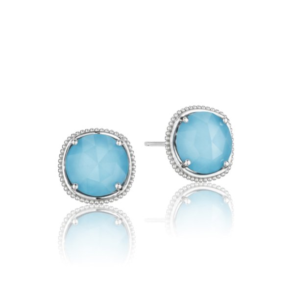 Earrings Studs - Bold Simply Gem featuring Neo-Turquoise 2