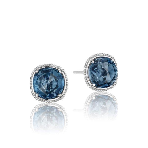 Earrings Studs - Bold Simply Gem featuring London Blue Topaz 2