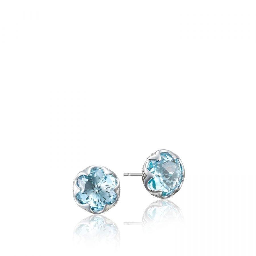 Earrings Studs - Tacori Crescent Bezel 2