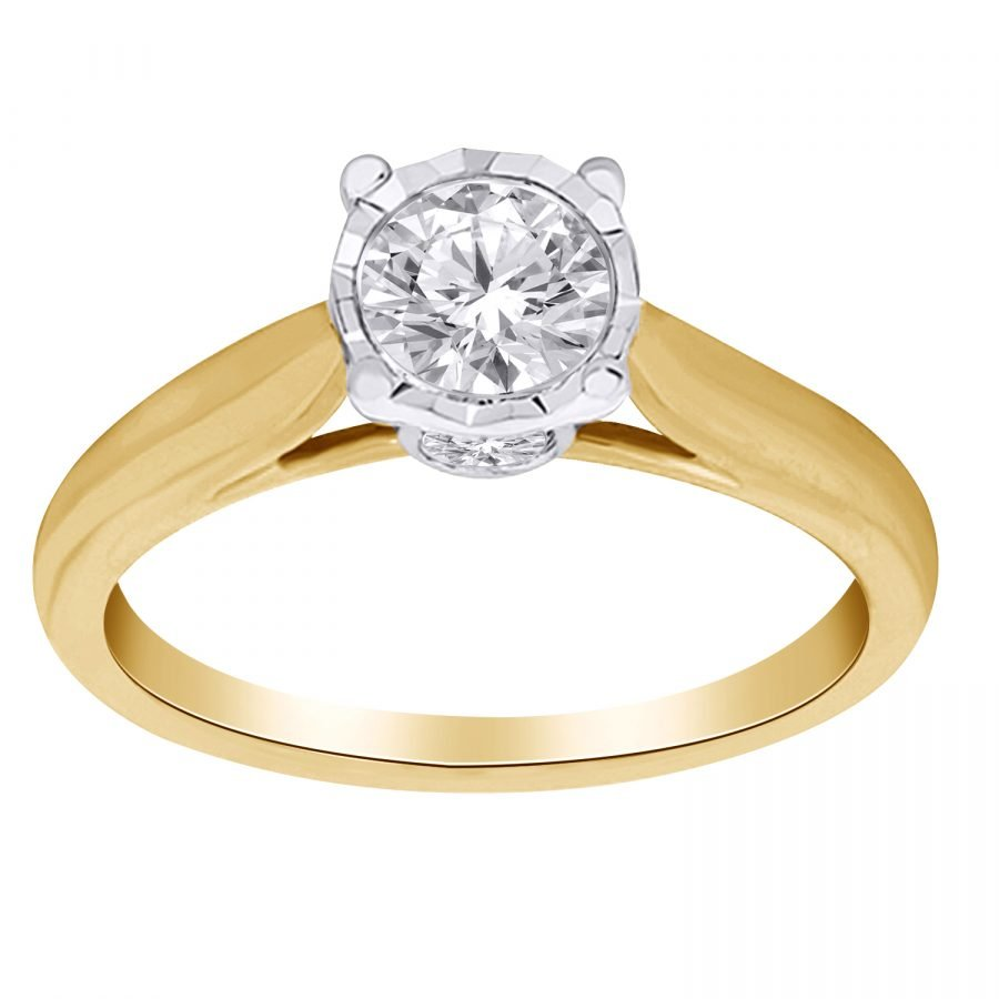 Ring - Solitaire 0.25 ctw diamonds in 14K Yellow Gold 2