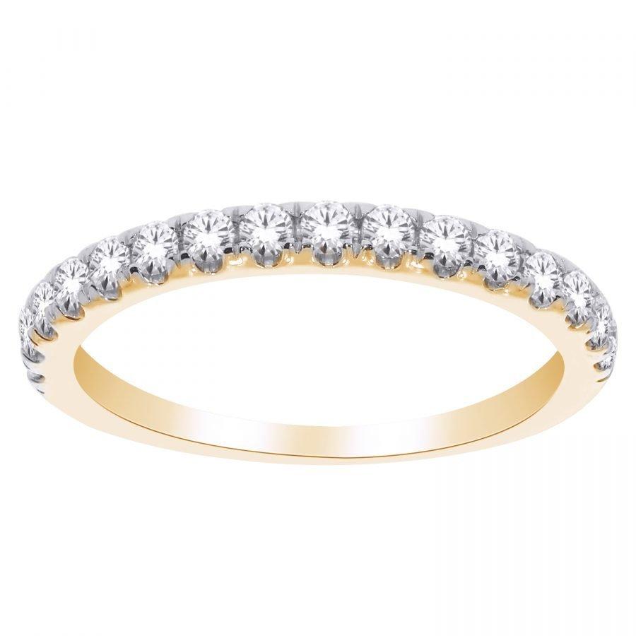 Ring - Band Eternity Half 0.33 ctw diamonds in 14k yellow gold 2